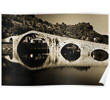 il Ponte del Diavolo, near Lucca, Italy Poster
