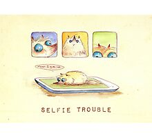 Selfie Trouble Photographic Print