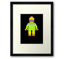 Striped Minifig Framed Print