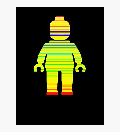 Striped Minifig Photographic Print