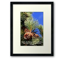 """Happy Holidays"" Framed Print"