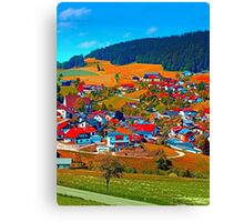 A villages sees red Canvas Print