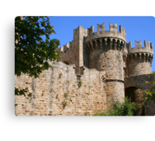 Palace of the Grand Masters in Rhodes Canvas Print