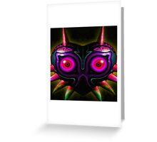 majora's shadow mask Greeting Card