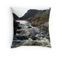 Tumbling Through - Gap of Dunloe Throw Pillow