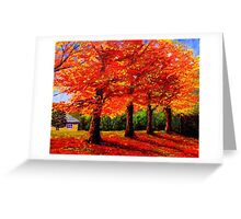 New England Maple Row Greeting Card