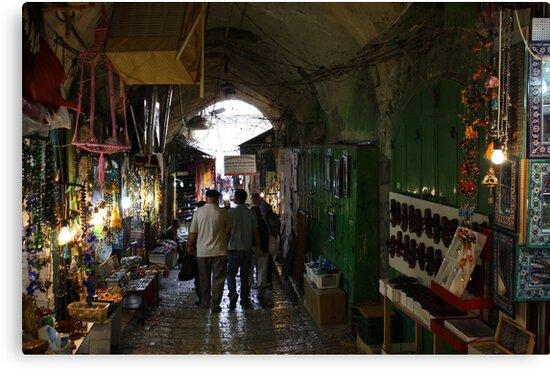 Old Jerusalem market by milzi