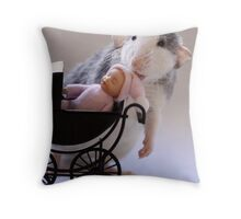 Rosie babysitting! Throw Pillow