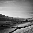 A valley divided by a shadow by clickinhistory