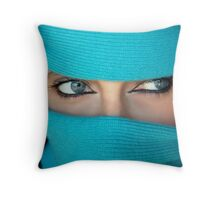 Mysterious glance Throw Pillow