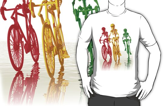 Bones on bikes tee and iphone case by Carol and Mike Werner