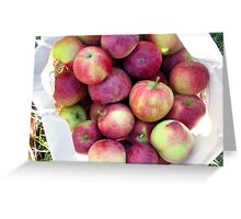 apples in a basket Greeting Card
