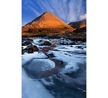 Glamaig in Winter, Sligachan.  Isle of Skye. Scotland. Photographic Print