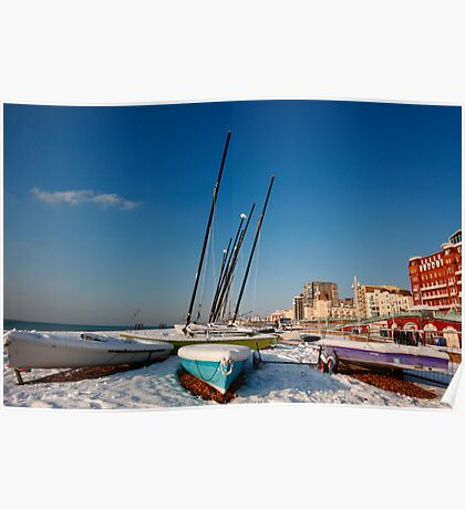 Snowy seafront Poster