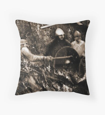 Strike At The Enemy Throw Pillow
