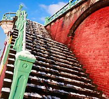 Snowy stairs by zumi