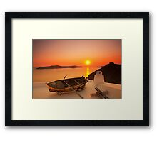 Thira Sunset Framed Print