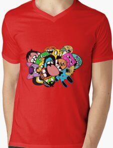 Lick Monster Colour Mens V-Neck T-Shirt