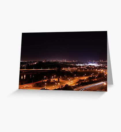 Northern Lights Edmonton Greeting Card
