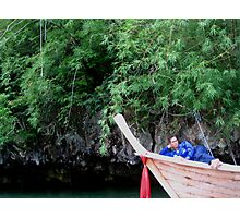 Loungin' on the Longtail Photographic Print