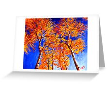Aspens in the Sky Greeting Card
