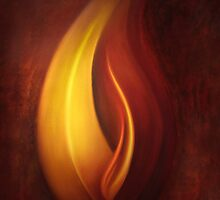 OILPAINTING FROM FLAME FRACTAL by Günter Maria  Knauth