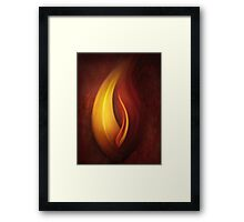 OILPAINTING FROM FLAME FRACTAL Framed Print