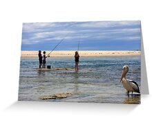 Fishing lessons Greeting Card
