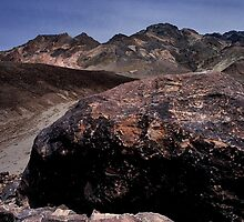 Large Boulder In Artist's Palette, Death Valley CA by Tom Fant
