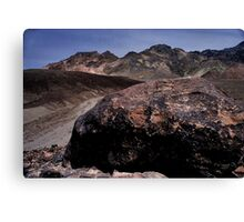 Large Boulder In Artist's Palette, Death Valley CA Canvas Print