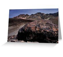 Large Boulder In Artist's Palette, Death Valley CA Greeting Card