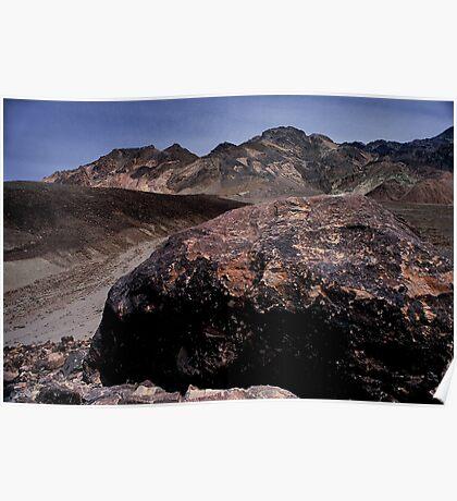 Large Boulder In Artist's Palette, Death Valley CA Poster