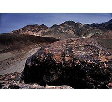 Large Boulder In Artist's Palette, Death Valley CA Photographic Print