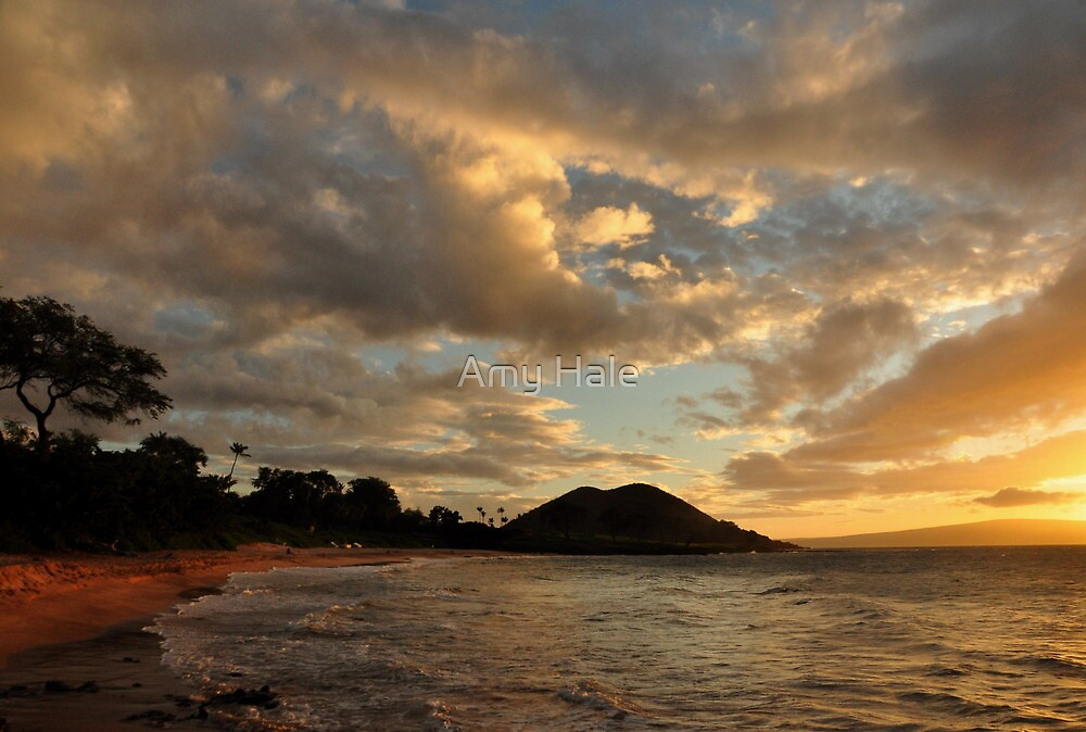 Sunset at Makena Beach, Maui by Amy Hale