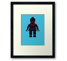 Minifig with Curved Stripes Framed Print