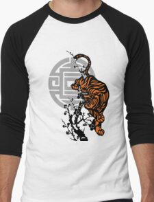 Prowling Tiger Men's Baseball ¾ T-Shirt