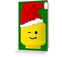 Santa Minifig by Customize My Minifig Greeting Card