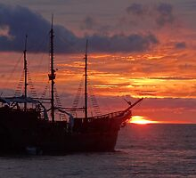 Marigalante's Sunset II - Puesta Del Sol De Marigalante by Bernhard Matejka
