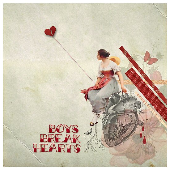 Valentine's Day Art and Design: Boys Break Hearts by Jordan Clarke