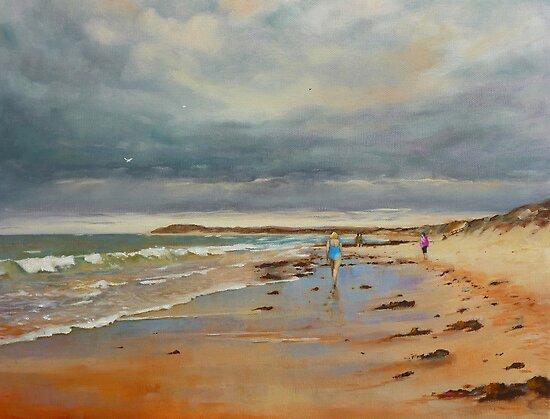 Breamlea Beach near Torquay, Victoria by Mick Kupresanin
