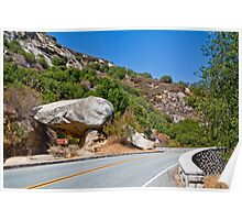 Road by Tunnel Rock Poster