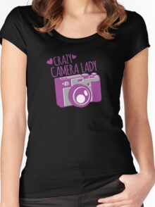 Crazy Camera Lady Women's Fitted Scoop T-Shirt