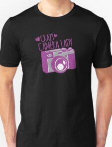 Crazy Camera Lady Unisex T-Shirt