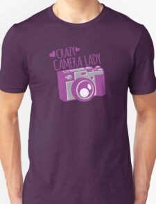 Crazy Camera Lady Unisex T-Shirt
