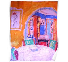 The Lounge Room. ( Homage To Matisse ) Poster