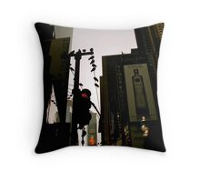 Birds on Wire Throw Pillow