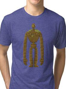 Trixel Laputa Robot Tri-blend T-Shirt