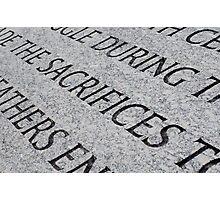 Sacrifices, Washington, D.C. Photographic Print