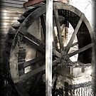 water wheel at Hurricane Shoals by mcspadden29