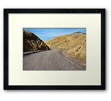 Mustard Canyon Road Framed Print